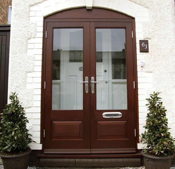 Wooden doors wooden double glazed doors for Double door wooden door